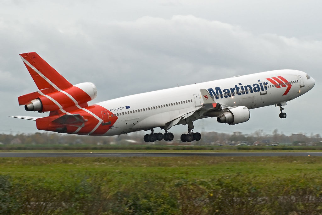 Martinair McDonnell Douglas MD-11 (PH-MCP) departing Amsterdam-Schiphol (AMS)
