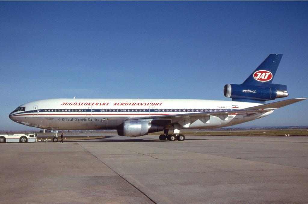 JAT McDonnell Douglas DC-10–30 at Sydney-Kingsford Smith (SYD), 1985