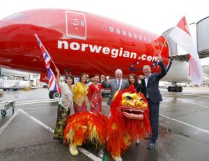 Norwegian, Gatwick Airport and the Singapore Tourism Office launch the new London-Singapore route