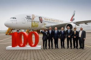 Emirates' 100th A380