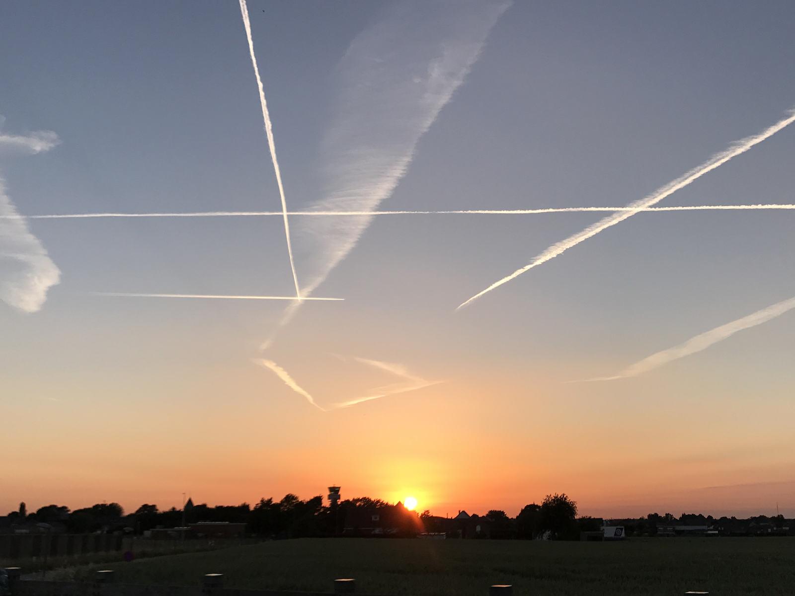 The sky over Zaventem