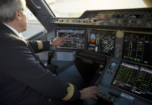 A350 cockpit touchscreens
